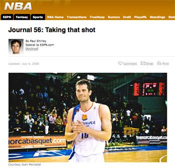 Articulo de Paul Shirley en ESPN